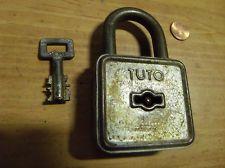 Antique TUTO Lock and Key works good