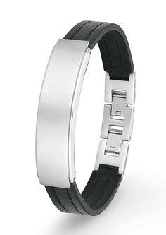 Armband, »SO1092/1«, s.Oliver.  Das lässige Armband aus schwarzem Leder ist mit mattiertem/glänzendem Edelstahl kombiniert. Der Armschmuck hat eine Breite von ca. 12 mm, eine Länge von ca. 21,5 cm und kann durch den Klappverschluss auf ca. 20 cm verstellt werden.  Lieferung in einer S.OLIVER-Geschenkbox....