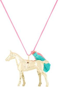 Gunner & Lux Wild & Free Gold Horse Charm Necklace at Barneys New York