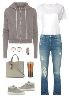 """""""I wear my hoodie with palladium boots"""" by stacy-just-stacy ❤ liked on Polyvore featuring R13, Rick Owens, Mother, Christian Dior, Marc Jacobs, Rolex, Hoodies, palladiumboots and MOTHERJEANS"""