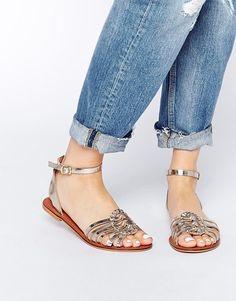 ASOS | ASOS FAITHFUL Leather Woven Sandals at ASOS