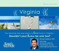 Our beaches are one reason to LOVE living in Virginia... Shouldn't your HOME be one too? Ready to start looking? #virginiabeach #hamptonroads #chesapeake #757 #virginiaisforlovers #virginia #beach #va #realestate #realtor #home