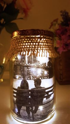 DIY Lit Mason Jar, Lit Mason Jar, DIY Gifts for him, DIY gifts, Valentine gifts…