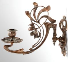 Art Nouveau German candle sconce.