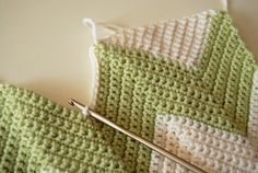 Crochet Chevron - Tutorial - AHA! This will explain how I can make a chevron pillow cover with squared-off edges. (All my blankets always have the fun zig-zaggy edge.)