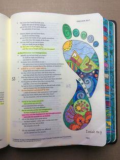 Isaiah ESV Journaling Bible Micron Pens And Polychromos Pencils