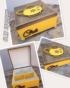 Woodworking Plans, Woodworking Projects, Diy Projects, Wooden Diy, Wooden Boxes, Fabric Paint Designs, Decoupage Box, Pretty Box, Zen Art