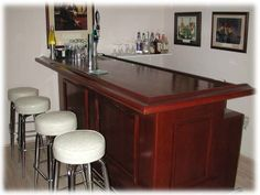 Simple idea for designs around the outside of a home made bar to make it look better without doing much to it.