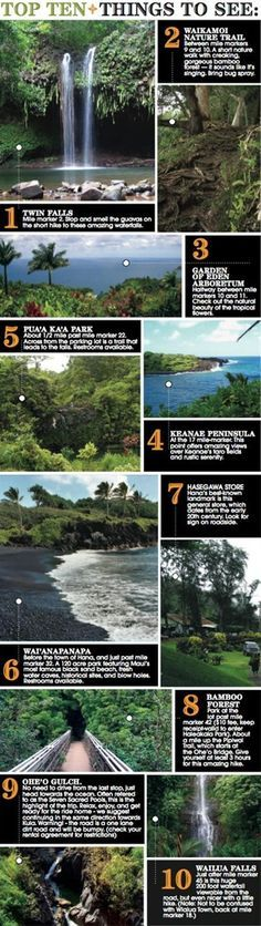 Top Ten Tips- Road to Hana, Maui