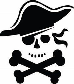 Dibujo de calavera pirata.