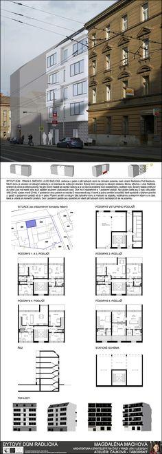 Studentský projekt. LS 2013/2014. FSv ČVUT v Praze. Praha, Floor Plans, Building, Buildings, Construction, Floor Plan Drawing, House Floor Plans