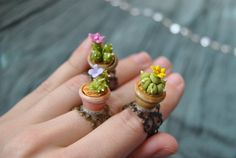 Cactus ring in a pot by Sifakacreations on Etsy, $6.00