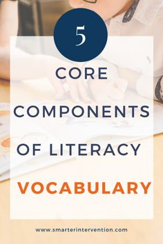 5 core components #vocabulary. Teaching #ReadingFluency to students needs to be done in a #fun and entertaining way. Read this post on how to help your students be more fluent in reading and learning their vocabulary #earlyreading #readingcomprehension #teachers #adhd #dyslexia
