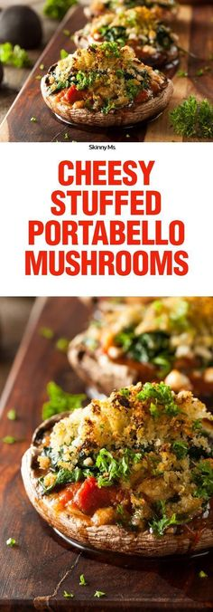 These delicious Cheesy Stuffed Portabello Mushrooms are stuffed with nutrition, so you can pride yourself with every bite.