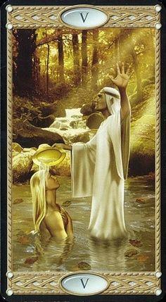 Hierofante - O Iniciador The Hierophant - Tarot of the Elves Filly, Tarot Cards Major Arcana, The Hierophant, High Priest, Tarot Readers, Fantasy Rpg, Oracle Cards, The Elf, Tarot Decks