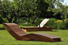 """""""Die Woge"""" Tuin ligstoel by Kaemper111 via DaWanda"""