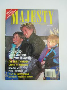 Majesty Magazine - Volume 14 No. 5  - May 1993 - Diana, William & Harry Cover by CuriousCatVintage on Etsy