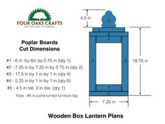 Free plans and tutorial on making your own wooden lantern. A great home decor piece for your house of backyard.