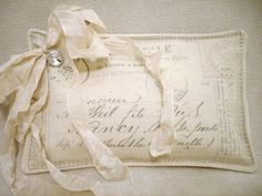 Wonderful Lavender Sachet with Vintage French by sewmanyroses, $15.00