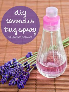 Bug Spray with Lavender Essential Oil Ingredients: 15 drops lavender oil 4 Tablespoons vanilla extract 1/4 cup lemon juice 16 oz. water Fill a spray bottle with the ingredients. Shake. Spray! - See more at: http://www.thenewlywedpilgrimage.com/essential-oils/diy-bug-spray-with-lavender/#sthash.Ar5eo4Xz.dpuf