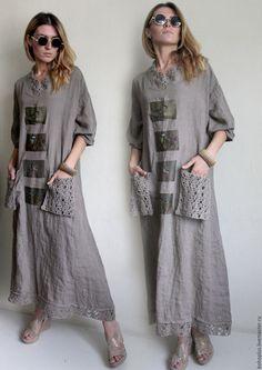 """Платья ручной работы. Платье из льна """" Прогулки по городу"""". Boho love. Ярмарка…"""