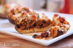 Cheesy Vegetarian Stuffed Mushrooms with Cacique Soy Chorizo and Four Quesos Blend Shredded Cheese