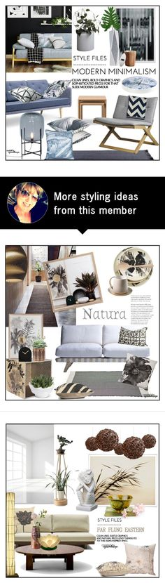 """Style Files ~ Modern Minimalism"" by eyesondesign on Polyvore featuring interior, interiors, interior design, home, home decor, interior decorating, ferm LIVING, modern, interiordesign and TastemastersDesignGroup"