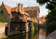 Ancient houses in Bruges, Belgium