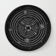 Wall Clock featuring SOLAR SYSTEM by Mírë