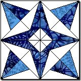 "Paper pieced block entitled ""Compass Star"" (DMM)"
