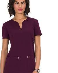 Resultado de imagen para uniformes medicos Uñas Fashion, Fashion Dresses, Medical Uniforms, Dentistry, Scrubs, V Neck, Outfit, Color, Women