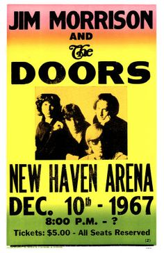 Five dollars to see The Doors. America was a strange and wonderful place.