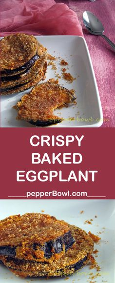 Baked Eggplant Recipe / Easy Crispy Eggplant is perfect for appetizer with step by step pictures and instructions. Baked Eggplant Recipe / Easy Crispy Eggplant is perfect for appetizer with step by step pictures and instructions. Vegaterian Recipes, Vegetable Recipes, Gourmet Recipes, Appetizer Recipes, Cooking Recipes, Healthy Recipes, Egg Plant Recipes Easy, Appetizers, Recipes Dinner