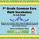 This file contains 107 Common Core math vocabulary cards for First Grade.