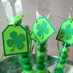 St Patrick's Day M&M Candy Treat Bags