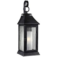 "Feiss Shepherd 16 1/2""H Weathered Zinc Outdoor Wall Light - #8N678 