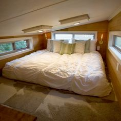 Den living room area in a tiny house The den is a cozy area for
