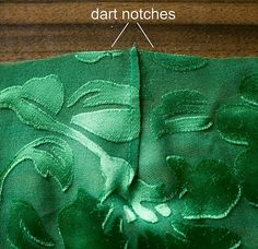 pattern ~ scissors ~ cloth: ~tricks of the trade: french seam a dart~