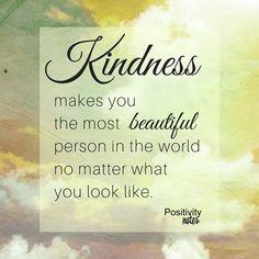 A thought on kindess and beauty #kindess #beauty
