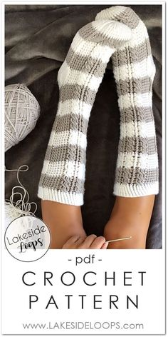 Crochet sock pattern for the whole family.  These beautiful cable crochet socks can be made in 11 different sizes including baby, toddler, kids, and adult mens and womens!  The perfect thick reading socks for cold Winter days you won't believe they're crochet.  Pattern is beginner friendly AND includes a video tutorial. Download it today!