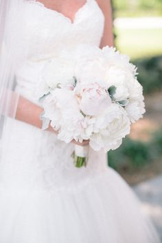 Doesn't get any better than a #bouquet overflowing with peonies | Nocatee, Florida Wedding from J. Layne Photography  Read more - http://www.stylemepretty.com/florida-weddings/2013/10/23/nocatee-florida-wedding-from-j-layne-photography/