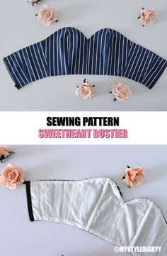 A super cute sweetheart bustier pattern pdf sewing pattern for women sweetheart bustier pattern sweetheart bustier top corset pattern sweetheart top pattern sewing pattern summer crop top bustier pattern Dress Sewing Patterns, Sewing Patterns Free, Free Sewing, Sewing Tutorials, Clothing Patterns, Sewing Crafts, Sewing Projects, Pattern Sewing, Skirt Sewing