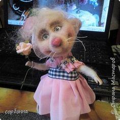 Интерьерная кукла мышка. ежик