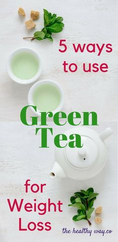 5 Ways to Use Green Tea for Weight Loss – The Healthy Way Green Tea can be the boost you need for fast Weight Loss 5 Ways to Use Green Tea for Weight Loss Weight Loss Tea, Green Tea For Weight Loss, Weight Loss Drinks, Fast Weight Loss, Weight Gain, How To Lose Weight Fast, Fat Fast, Losing Weight, Diet Plan Menu