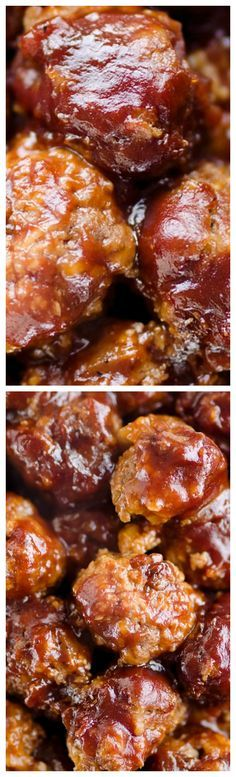 Crock Pot Cheddar BBQ Meatballs ~ Tender beef meatballs loaded with onion and cheese are simmered in your favorite BBQ sauce for a wonderful recipe made in your slow cooker.