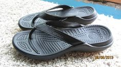 Croc flip flops