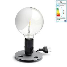 Flos - Lampadina LED, schwarz Aluminium, Lighting, Home Decor, Products, Light Fixtures, Energy Consumption, Pear, Decoration Home, Room Decor