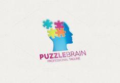Puzzle Brain Logo by eSSeGraphic on Creative Market