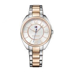 1781696 Γυναικείο ρολόι TOMMY HILFIGER Casey με άσπρο καντράν και ροζ χρυσό  μπρασελέ  6901215971b
