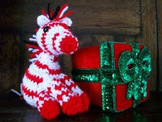 Nothing says Christmas like red and white peppermint candy canes!! Here is a little Zebra who ate WAY too much peppermint candy and change...
